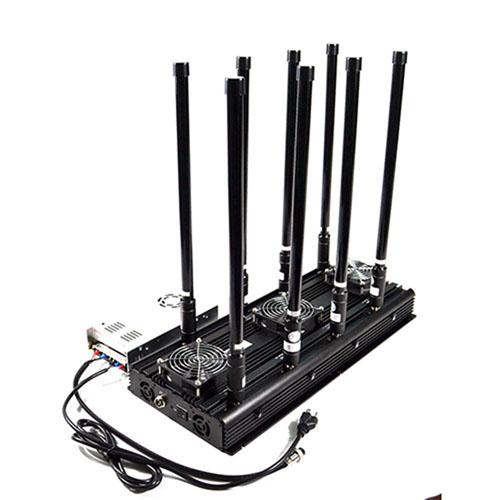 8 Bands High Power Cell Phone Signal Jammer 3G WIFI Blocker