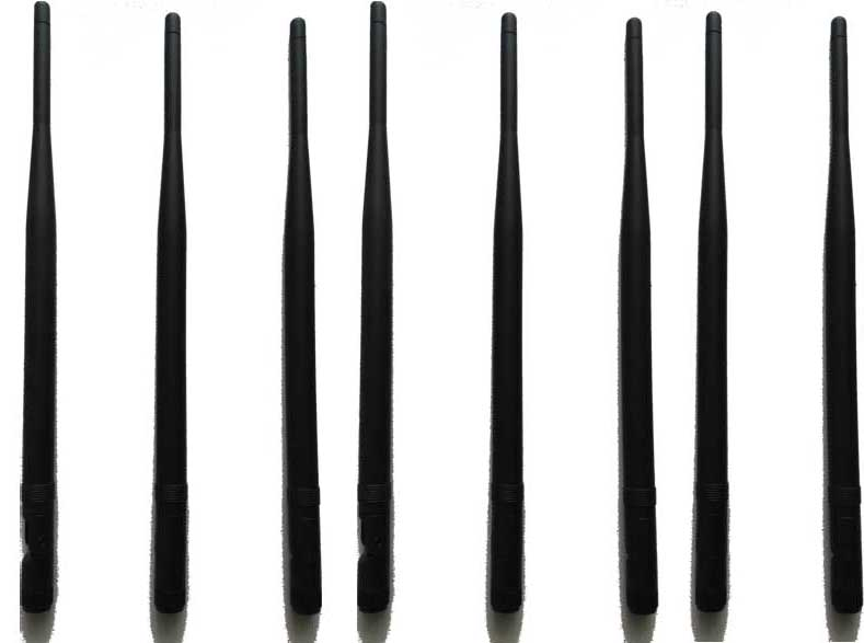 Cell phone jammer equipment , 8pcs Replacement Antennas for Signal Jammer