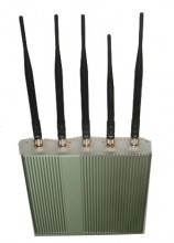 5 Antenna Remote Controlled 2G 3G Full Band Mobile Phone Jammer