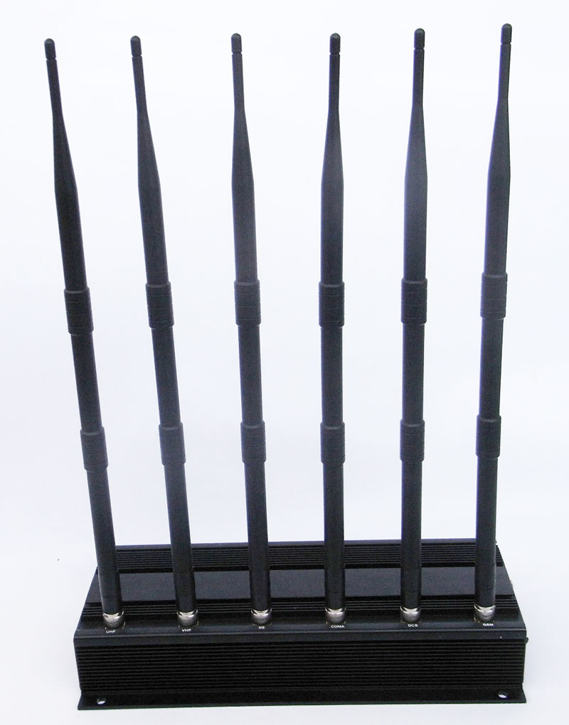 Car remote blocker - Multifunctional High Power 6 Antenna Mobile Phone GPS Bluetooth VHF UHF Jammer