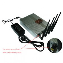10W High Power Adjustable Remote Controlled 3G Mobile Phone Jammer