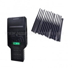 Newest Handheld Hidden 16 Antennas Mobile Phone Signal Jammer WiFi(2.4G 5G)) GPS UHF/VHF All-in-one blocker