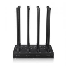 Desktop 8 Antennas 5G Cell Phone Signal Jammer All 2G 3G 4G 5G Bands Blocker Cover Range up to 150m