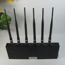 6 Antenna High Power Bluetooth GPS Mobile phone Jammer for Worldwide Using