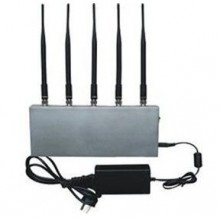 High Power 5 Antenna Desktop Mobile Phone Signal Jammer