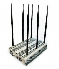 High Power 6 Bands Desktop WiFi GPS 3G Phone Jammer Up to 100 Meters