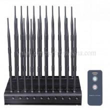 Adjustable Desktop 20 Antennas 5G Cell Phone Jammer WiFi GPS Lojack VHF UHF RC Signal Blocker