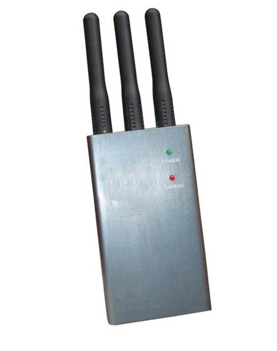 A mobile phone jammer - Portable Selectable Bluetooth WiFi GPS Lojack Mobile Phone Blocker