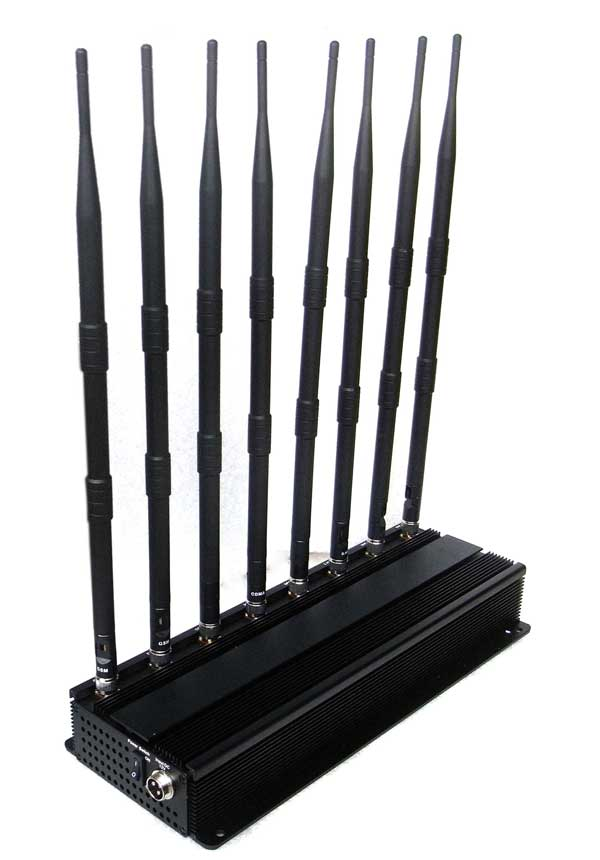 Bluetooth jammer for security application - 8 Bands High Power 3G Phone Jammer WiFi GPS LoJack UHF VHF Jammer