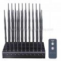 Adjustable Desktop 20 Antennas 5G Cell Phone Jammer WiFi GPS Lojack VHF UHF RC Signal Blocker