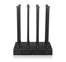 High Power 210W 8 Bands 2G/3G/4G Cell Phones WiFi GPS Signal jammer with 11 Cooling Fans Up to 150m
