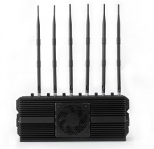 Adjustable High Power Cell phone Jammer & WiFi Jammer Up to 150 Meters Range