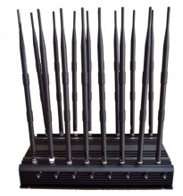 16 Antennas Adjustable Powerful 3G 4G phone jammer & WiFi UHF VHF GPS Lojack All Bands Signal Blocker of Global Version