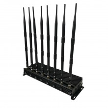 The Latest Mobile phone Signal Jammer 8 Antennas Adjustable 3G 4G Phone signal Blocker with 2.4G 5.8G WiFi UHF