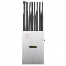 New portable 16-band 5G mobile phone jammer WiFi GPS UHF VHF RC all-in-one LCD screen signal jammer