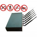 High Power Adjustable 6 Antenna WiFi GPS 3G Mobile Phone Jammer